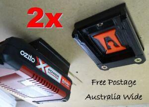 2x Ozito 18v Battery Holder / Mount / Storage - Innovation Australia