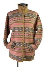 Tabi Int'l  Canada Women's Sweater Geometric Designs 100% Wool Woolmark Pink
