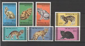 Mongolia 1987 Domestic Cats/Pets/Animals/Nature 7v set ref:n12170
