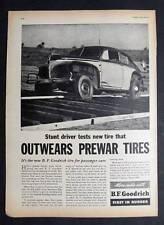 Original 1946 Goodrich Tire Photo Ad Stunt Driver Jimmie Lynch