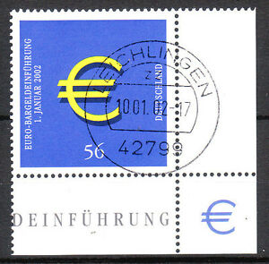 BRD 2002 Mi. Nr. 2234 Eckrand 4 , Vollstempel Ersttag 10.1.02 mit Gummi (8580)