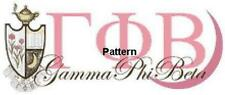 Gamma Phi Beta. Counted Cross Stitch Pattern. Paper version or PDF Files