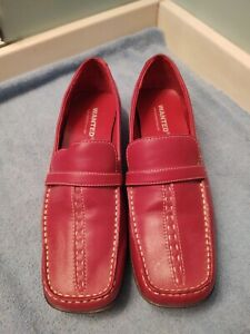 Women's Wanted Shoes Porsche Maroon / Reddish Slip on Casual Loafers Size 8.5 M