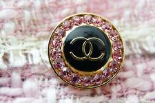 One Vintage 1 Authentic Chanel Button 1 pcs purple & crystals💜