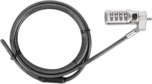 Targus DEFCON 3-in-1 Universal Resettable Combo Cable Lock for Laptop Computer