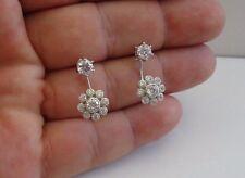 Earrings W/ 2.50 Ct Lab Diamonds 925 Sterling Silver Dangling Cluster Post Stud