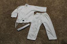 Swift Karate Martial Arts Taekwondo Uniform Gi White Jacket Pants Belt Size 00