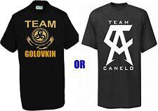 GGG Canelo Team Tshirts Boxing Champion Saul Alvarez Gennady golovkintop T-Shirt
