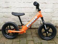 strider 12 sport balance bike orange excellent condition with instructions