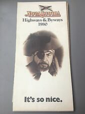 1980 Nova Scotia Highways and Byways Map