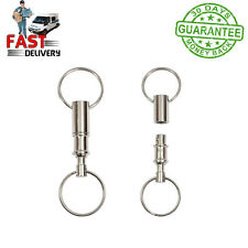 Detachable Pull Apart Quick Release Keychain Key Rings with Two Split Rings UK