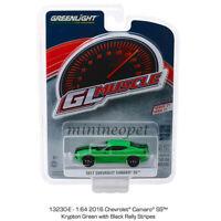 GREENLIGHT 13230 E 2017 CHEVROLET CAMARO SS 1/64 DIECAST MODEL CAR KRYPTON GREEN