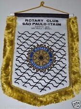WOW Vintage Sao Paulo-Itaim Brazil Brasil Rotary Club International Banner Flag
