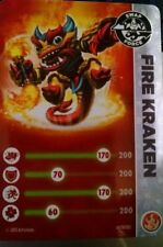 Fire Kraken Skylanders Swap Force Stat Card Only!