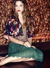 NEW Anthropologie Tabitha Mikura Crop Swing Floral Bolero Jacket L $118