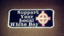 Support Your Local White Boy Patch. HARLEY Celtic Cross, Odin, Thor, Irish