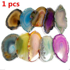 Agate Slices Geode Polished Irregular Quartz Crystal Healing Reiki Stone Pendant