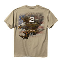 NRA T-Shirt Eagle 2nd Amendment Right To Bear Arms Sand Official Licensed S-3XL