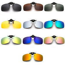 UV400 Sunglasses Lens Clip On Flip-up Polarized Driving Glasses Day Night Vision