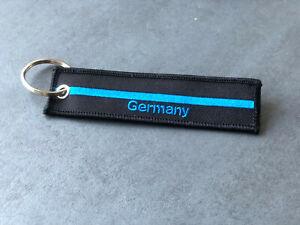 """Schlüsselband  GERMANY """"The Thin Blue Line""""  Blau für Polizei UNISEX"""