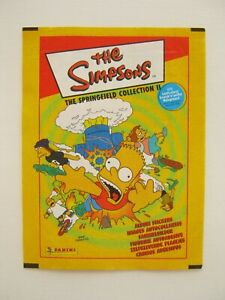 PANINI THE SIMPSONS SPRINGFIELD COLLECTION EMPTY STICKER / TRADING CARD WRAPPER
