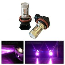 2PCS Purple H11 H8 80W LED Bulbs High Power Super Bright only for Fog Lights