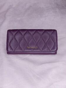 NWOT Vera Bradley Quilted Audrey Large Wallet Purple Genuine Leather $138 MSRP