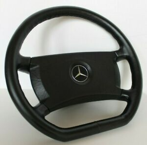 Steering Wheel Mercedes Benz OEM Leather Flat W123 W124 W126 R107 G 79-92