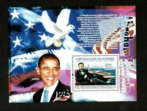 Guinea 2009 - Barack Obama, Anniversary of Lincoln Birth - Souvenir Sheet - MNH