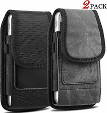 2 Pack Rugged Belt Clip Case for XS Max Vertical Phone Holster Pouch with Slots