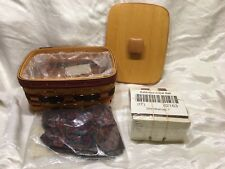 New Longaberger 1996 Fathers Day Address Basket Combo Lid Cards Liner Rolodex +