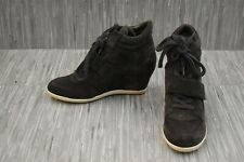 ASH Bowie Wedge Suede Fashion Sneakers, Women's Size 9M, Bistro