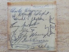 More details for rare! newcastle 1946-47 legends hand-signed (10) vintage autographs