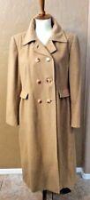 Rare Peck & Peck Womens SZ M/L Baby Camel-Hair Career Jacket Long Trench Coat