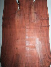 Rosewood/Blood wingceltis Bookmatch Bass Top Set-ONE AND ONLY 3893
