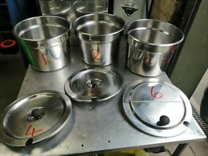 """NO112  HATCO RHW-1B  STAINLESS STEEL CONTAINERS AND LIDS """"OFFER ON EACH ITEM"""""""