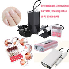 Portable Electric Acrylic Nail Art File Drill Set Manicure Machine Rechargeable