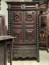 Late 19th Century Spanish Colonial Armoire - Cabinet - Cupboard