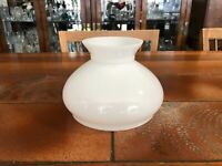 """Vintage White Glass Student Lamp Shade, 4 3/4"""" Tall, 5 3/4"""" Fitter"""