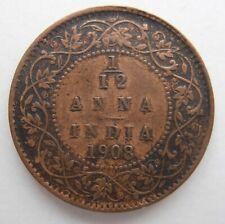INDIA 1/12 ANNA 1908