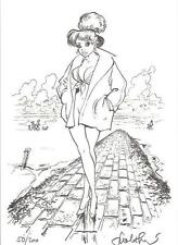 F. Walthéry Pin Up Ex-libris noir & blanc Melmac éditions  200 ex signé