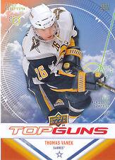 09/10 UPPER DECK TOP GUNS #TG6 THOMAS VANEK SABRES *9053
