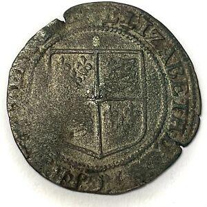 Elizabeth I Rare Irish Base Silver Sixpence REF:H1