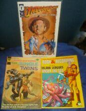 Lot/3 ADVENTURE COMIC BOOKS Vintg Jungle Twins '74 Indiana Jones '94 20K Leagues