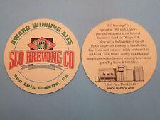 Older Beer COASTER ~*~ SLO Brewing Company ~ San Luis Obispo, CALIFORNIA Brewery