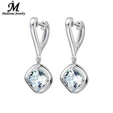 Fashion New 925 Sterling Silver Heart Women stud Earrings AAA Flash crystal E...