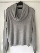 M&S Pure Cashmere Silver Grey Turtle Neck, Size 14 Long Sleeve Jumper