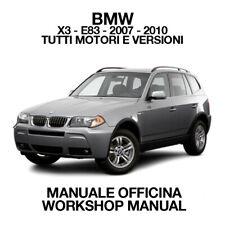 BMW X3 E83 2007 - 2010. Service Manuale Officina Riparazione Workshop Manual ENG