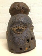 170907 - Rare and Tribal used Mende Head mask more then 100 years Old - Nigeria