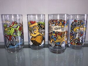 McDonalds Drinking Glasses The Great Muppet Caper 1981 Complete Set of 4